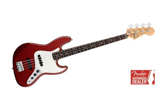 Fender Standard Jazz Bass Guitar (Candy Apple Red)