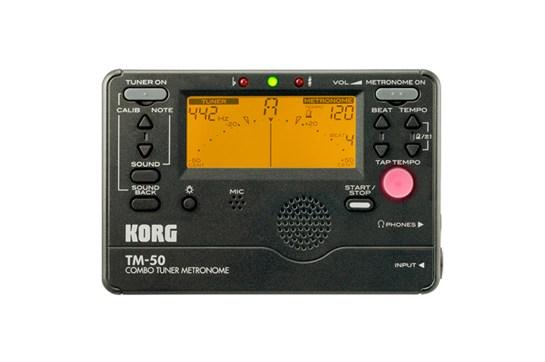 Korg TM-50 Tuner / Metronome (Black)