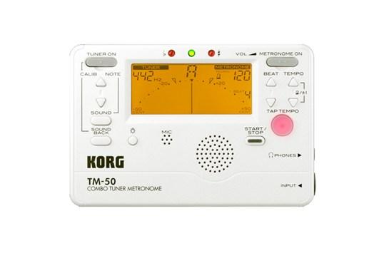 Korg TM-50 Tuner / Metronome (Pearl White)